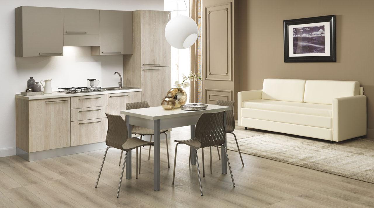 18 Pembroke and Ares Dove Grey Kitchen - Mobili Pollini - Longiano